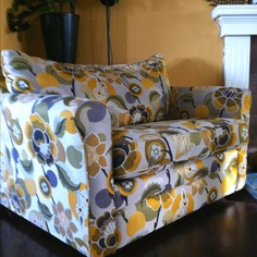 Lazy boy chair n a half, single bed hide-a-bed~ new fabric choice's by brooke shields #MOMCAVE