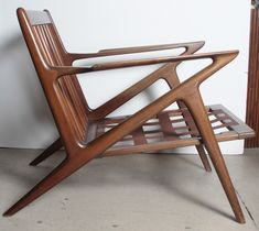 Pair Poul Jensen Selig Z Chairs | From a unique collection of antique and modern lounge chairs at http://www.1stdibs.com/furniture/seating/lounge-chairs/