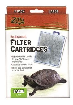REPTILE - FILTERS & MEDIA - ZILLA CARTRIDGE - LARGE - 3 PACK - CENTRAL - ENERGY SAVERS - UPC: 96316098312 - DEPT: REPTILE PRODUCTS