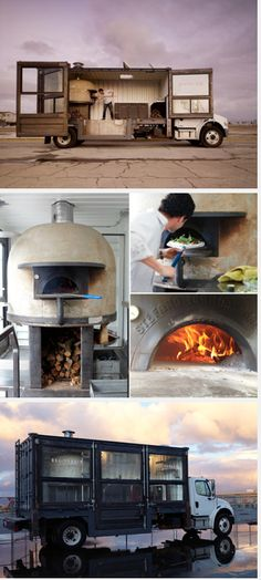 del popolo is a mobile pizzeria housed in a twenty-foot transatlantic shipping container. Mobile Restaurant, Deco Restaurant, Pizza Restaurant, Restaurant Design, Wood Fired Oven, Wood Fired Pizza, Wood Oven, Pizza Food Truck, Food Truck For Sale