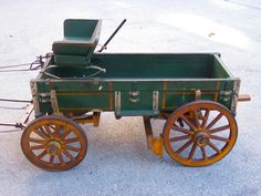 #vintage collectible toy horse drawn wooden buckboard wagon highly detailed from $499.0