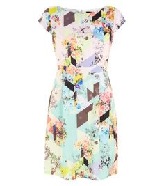 Cutie Pink Abstract Floral Print Dress