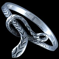 Silver ring, snake Silver ring, Ag 925/1000 - sterling silver. A fine ring with a serpentine design.