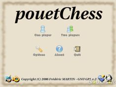 PouetChess is an innovating chess game for one or two players and whatever your level. #gaming #chess #linux