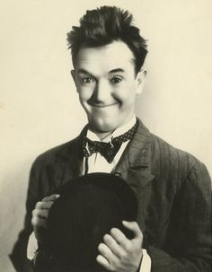 Stan Laurel (1890 - 1965) Half of the comedy team Laurel & Hardy, they starred together in numerous movies, he was the thin one