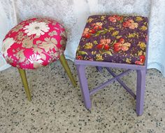 Hocker in Shabby Hacks Diy, Ikea Hack, Vanity Bench, Stool, Shabby Chic, Furniture, Vintage, Home Decor, Decoration Home