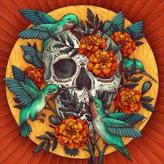 DIA DE LOS MUERTOS - Kate O'Hara Illustration