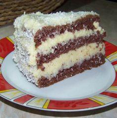 Hungarian Cake, Hungarian Recipes, My Recipes, Sweet Recipes, Cookie Recipes, Eastern European Recipes, Tiramisu, Food And Drink, Pudding
