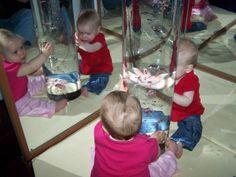 Bijzonder: luchtbelletjes, licht en een spiegel.