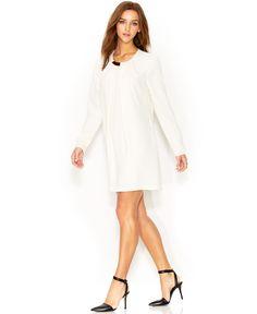 1ca8539150e RACHEL Rachel Roy Long-Sleeve Necklace Shift Dress   Reviews - Dresses -  Women - Macy s