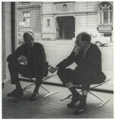 Jørgen Kastholm and Preben Fabricius on their beautiful stools