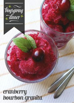 Cranberry Bourbon Granita. What better way to end the feast than with this granita from @feastandwest?