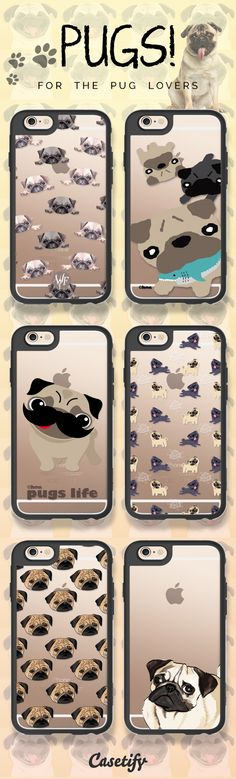 Who is a fan of pugs? Shop these adorable cases here: https://www.casetify.com/artworks/p50Ebz5Dm8 #animal | @casetify
