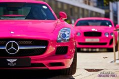 HiphopOnWheels.com  For the Ladies out there who love Fast Cars! #Pink #Too Much Pink #Why Do Girls Like Pink?