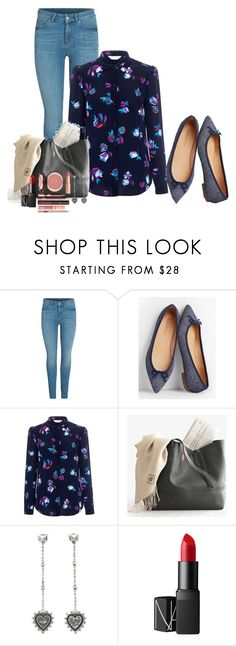 """""""Coffee At Katy's At 3 o'clock"""" by mozeemo ❤ liked on Polyvore featuring Talbots, Rebecca Taylor, Valentino, NARS Cosmetics and Charlotte Tilbury"""