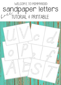 One of the most popular posts on here is my tutorial for how to make your ownsandpaper numbers! Since publishing that article, I have been frequently asked for a tutorial and format for sandpaper letters! I am very happy to announce that I am finally done with our tutorial and free printables for how to …