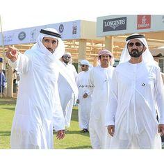 Hamdan bin Mohammed bin Rashid Al Maktoum y su padre, Mohammed bin Rashid bin Saeed Al Maktoum, 16/12/2015. Foto: adoalfares
