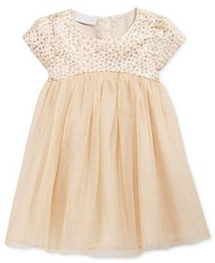 First Impressions Baby Girls' Brocade & Tulle Dress, Only at Macy's - Brown 18 months Teen Girl Fashion, Little Girl Fashion, Little Girl Dresses, Kids Fashion, Flower Girl Dresses, My Baby Girl, Baby Girls, Toddler Outfits, Kids Outfits