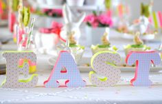 Decorated Easter letters