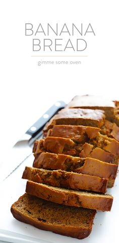 Banana Bread -- naturally-sweetened with maple syrup, easy to make, and SO moist and delicious | gimmesomeoven.com