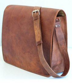 Leather Messenger Bag for Men and Leather Cross Body Satchel for Women  Padded Macbook Laptop bag