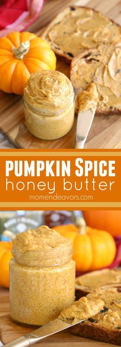 Delicious pumpkin spice honey butter! Spread this on toast, pancakes, waffles, quick breads, or muffins for a delicious taste of fall! Sponsored by Buzz + Bloom Honey. #BuzznBloom