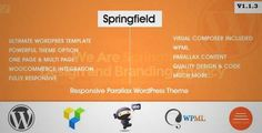 Download and review of Springfield - Responsive Parallax WordPress Theme, one of the best Themeforest Corporative themes