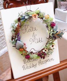 結婚式で手作りしたい!刺繍×お花の可愛いウェルカムボード   marry[マリー]