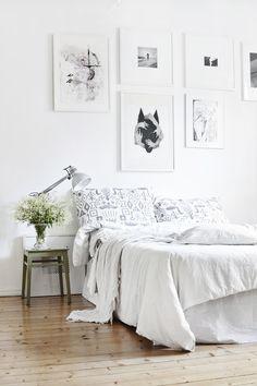 white bedroom linens