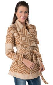 Montanaco® Women's Tan with Brown Navajo Print Belted Jacket | Cavender's