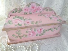 BEAUTY of a BOX RECIPE JEWELS hp roses chic shabby vintage cottage hand painted