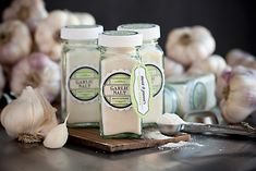 Homemade Garlic Salt from My Own Ideas blog #garden #diy