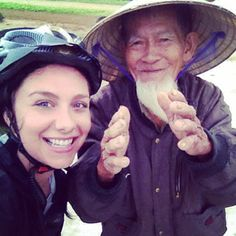 #ShareIG Rainy day bike ride in the #HoiAn countryside. #farmer #selfie