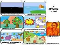La Creacion de Dios-Para Colorear y de Color My Prayer, Prayer Board, Creation Bible, Batman Wallpaper, Bible Activities, Sunday School Crafts, Bible For Kids, Bible Crafts, Kids Church
