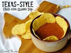 Texas Style Chili Con Queso Dip