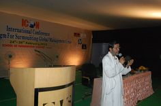 Keynote speaker at International Conference on Spirituality and Management at School of Management Science, Varanasi, India.