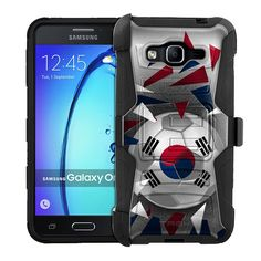 Samsung Galaxy On5 Armor Hybrid Case - Soccer Ball Korea Flag