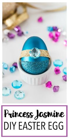 This Disney Princess Inspired DIY Easter Egg is a fun Disney princess craft centered around Princess Jasmine from Aladdin! This jewel toned egg makes a great Easter basket gift or Easter craft idea! Disney Princess Crafts, Disney Diy Crafts, Easy Diy Crafts, Crafts To Make, Fun Crafts, Disney Crafts For Adults, Easter Gift Baskets, Basket Gift, Easter Crafts For Kids