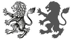 The heraldic lion has been created by engraver Christopher Wormed. New Aston Villa crest. Crest Tattoo, Crest Logo, Harry Tattoos, Body Art Tattoos, Lion Images, Lion Drawing, Animal Symbolism, Lion Design, Lion Logo