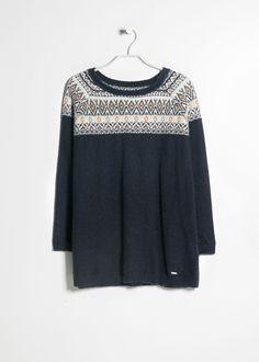 Jacquard alpaca wool-blend sweater