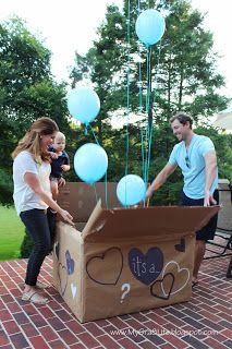 Gender Reveal Party - balloon box