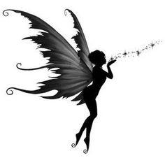 Mini Tattoos, Flower Tattoos, Body Art Tattoos, Cool Tattoos, Fairy Tattoo Designs, Tattoo Designs For Women, Tattoos For Women, Elfen Tattoo, Fairy Silhouette