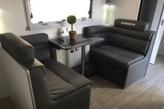 The upholstery of caravan and his new look Caravan Upholstery, Recliner, Rv, Lounge, Chair, Furniture, Home Decor, Airport Lounge, Homemade Home Decor