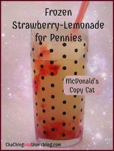 McDonald's copy cat frozen strawberry lemonade