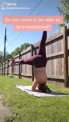 Do these core strengthening moves to get your headstand! Easy Gymnastics Moves, Gymnastics For Beginners, Gymnastics At Home, Gymnastics Workout, Yoga Inversions, Yoga Moves, Vinyasa Yoga, Yoga Sequences, How To Do Headstand