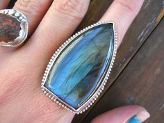 Labradorite and Sterling Silver Triangle Ring by StarNative, $85.00