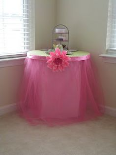 #Princess Party Decorations - Table Tu Tu How-To