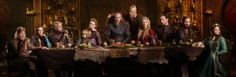 Cast of Vikings in Season 4, from left to right: Linus Roache (Ecbert), Jennie Jacques (Judith), Gustaf Skarsgård (Floki), James Quinn Markey (Ivar), Alyssa Sutherland (Aslaug), Travis Fimmel (Ragnar), Alexander Ludwig (Bjorn), Katheryn Winnick (Lagertha), Ben Robson (Kalf), Clive Standen (Rollo) and Morgane Polanski (Gisla)