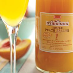 Bubbly Bellini. Click to see the Recipe from Stirrings on the Lilly Pulitzer Blog