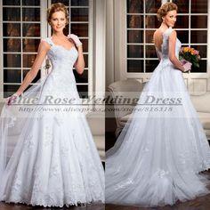 Vestidos de Noivas 2014 Rendas Sexy Cap Sleeve Lace Wedding Dress 2014 Imported China Civil Wedding Dress Bridal Gown Casamento